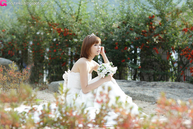 1 Kang Yui - Wedding Dress-very cute asian girl-girlcute4u.blogspot.com
