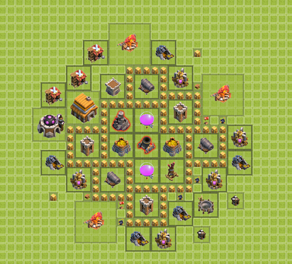 War Base Clash of Clans TH 5 Terbaik