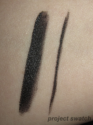 L'oreal Laquer Gel Liner in Blackest Black - swatch