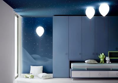 lámpara decorativa dormitorio niño