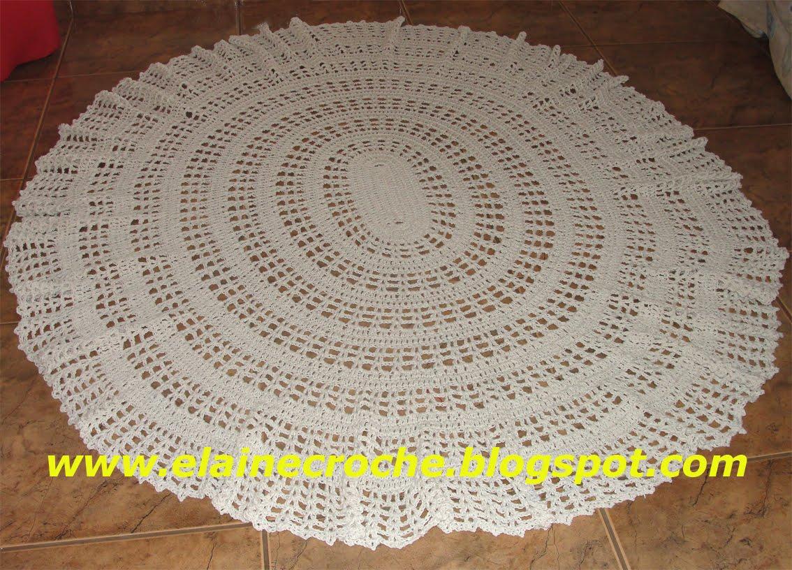 Elaine Croche Tapete Oval King Barbante Euroroma -> Tapete De Croche Oval Simples Passo A Passo