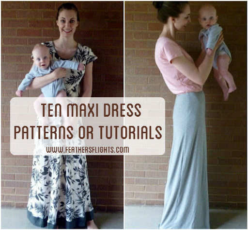 Maxi Dress Cutting Pattern Ten Maxi Dress Patterns And