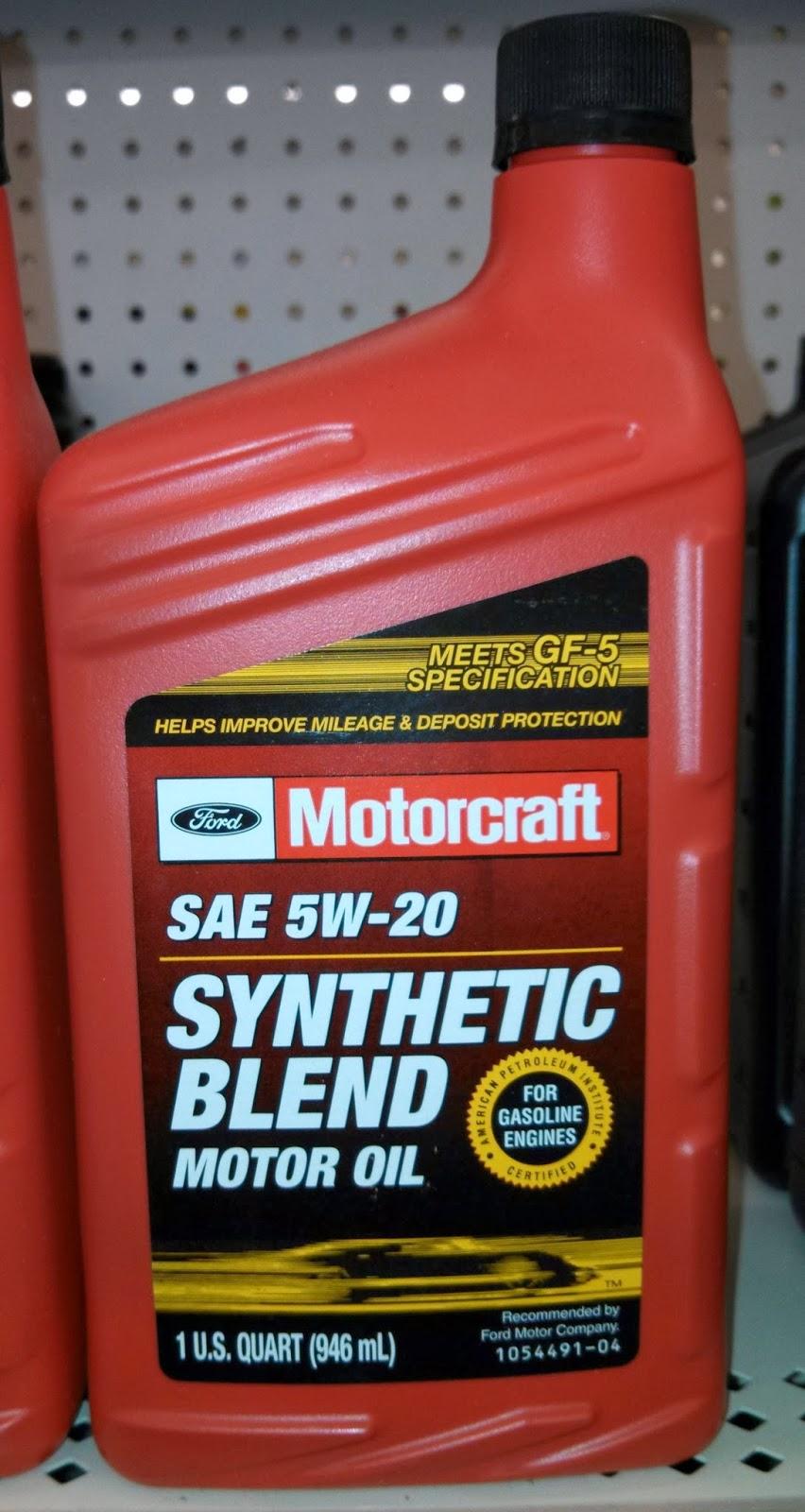 Synthetic oil vs regular oil penny pincher journal for Motorcraft synthetic blend motor oil