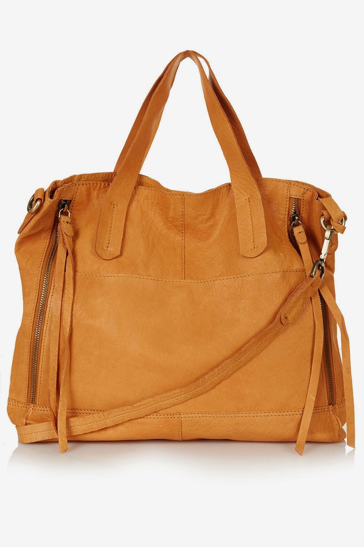 topshop tan leather bag