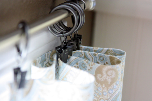 Green And Brown Shower Curtain Clip Top Sheer Curtain Panels