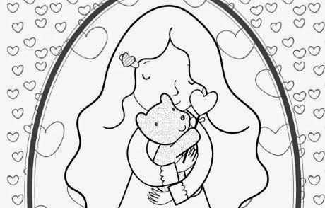 Dibujos Dia de la Madre para Colorear, parte 4