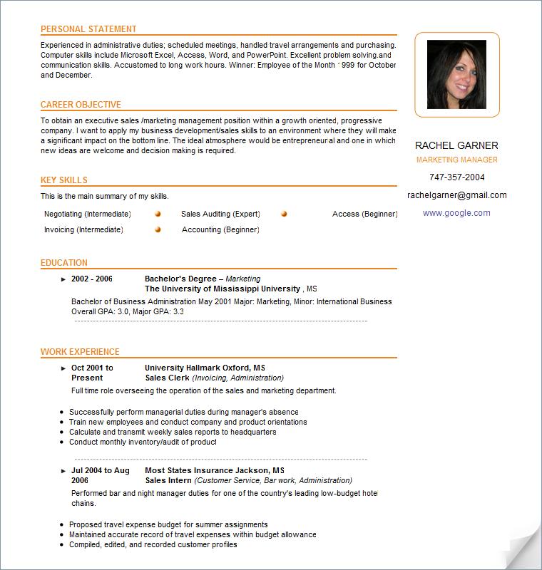 sample resume templates pdf .