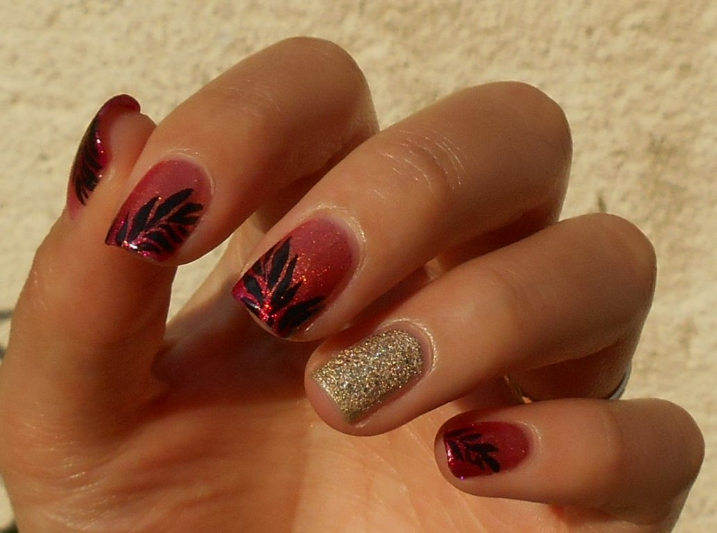 vp nails nail art feuilles de palmier. Black Bedroom Furniture Sets. Home Design Ideas