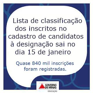 CLASSIFICAÇÃO PARA DESIGNAÇÃO 2014 -SEE/MG