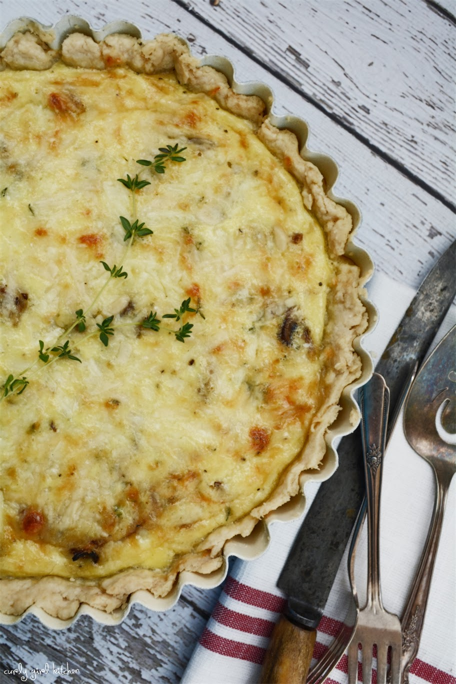 Curly Girl Kitchen: Caramelized Mushroom and Onion Quiche with White ...