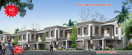 4 interdependent villas for sale at Kunnamangalam, Calicut (Kozhikode), Kerala
