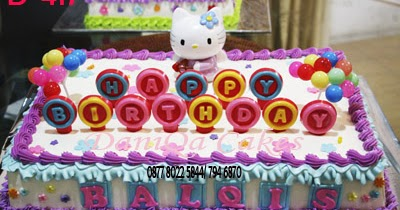 DaniQa Cake and Snack: Kue Ulang tahun Hello kitty