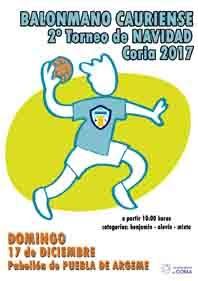 """2º TORNEO BALONMANO CAURIENSE """"NAVIDAD 2017"""""""