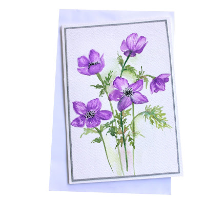 violet,flowers,greeting,card,theme,invitation,painted,handmade, cardforsale,stationery,newcollection
