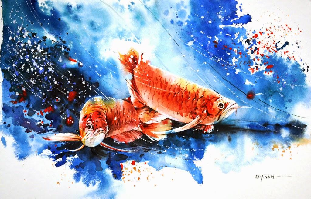 gambar kartun ikan arowana