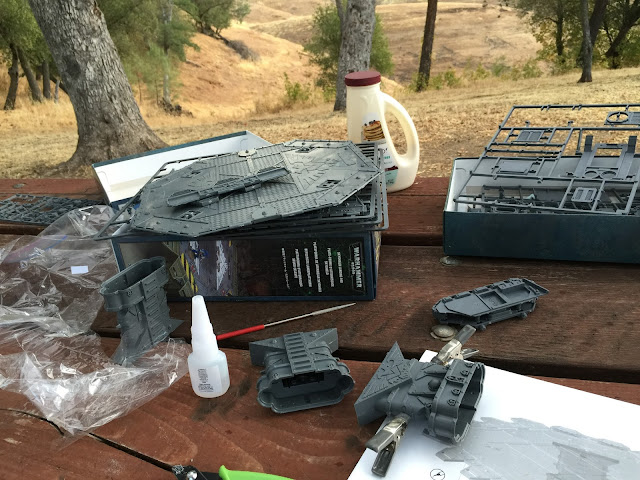 Camping 40K; Warhammer while camping; Warhammer in the woods; Battle Gaming One