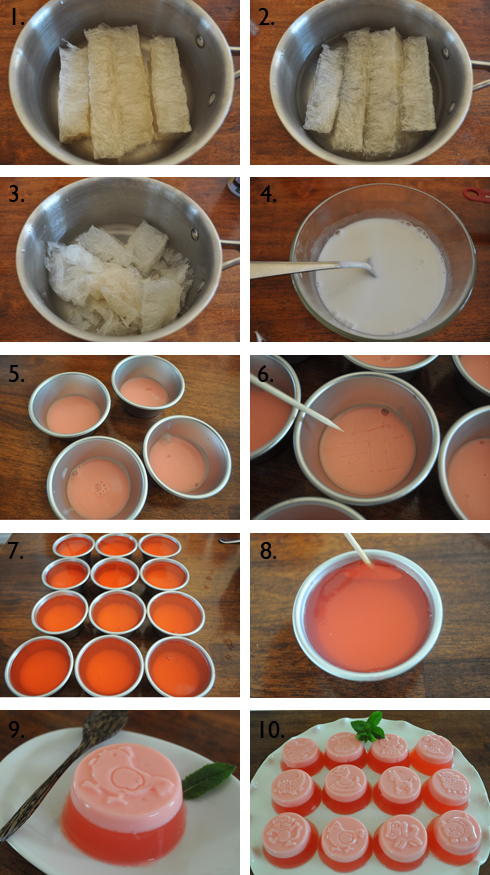 Brown Cookie Blog: Agar-Agar Pudding Jelly with Coconut Milk