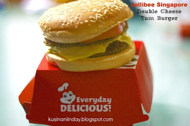 Jollibee Singapore Double Cheese Yum Burger