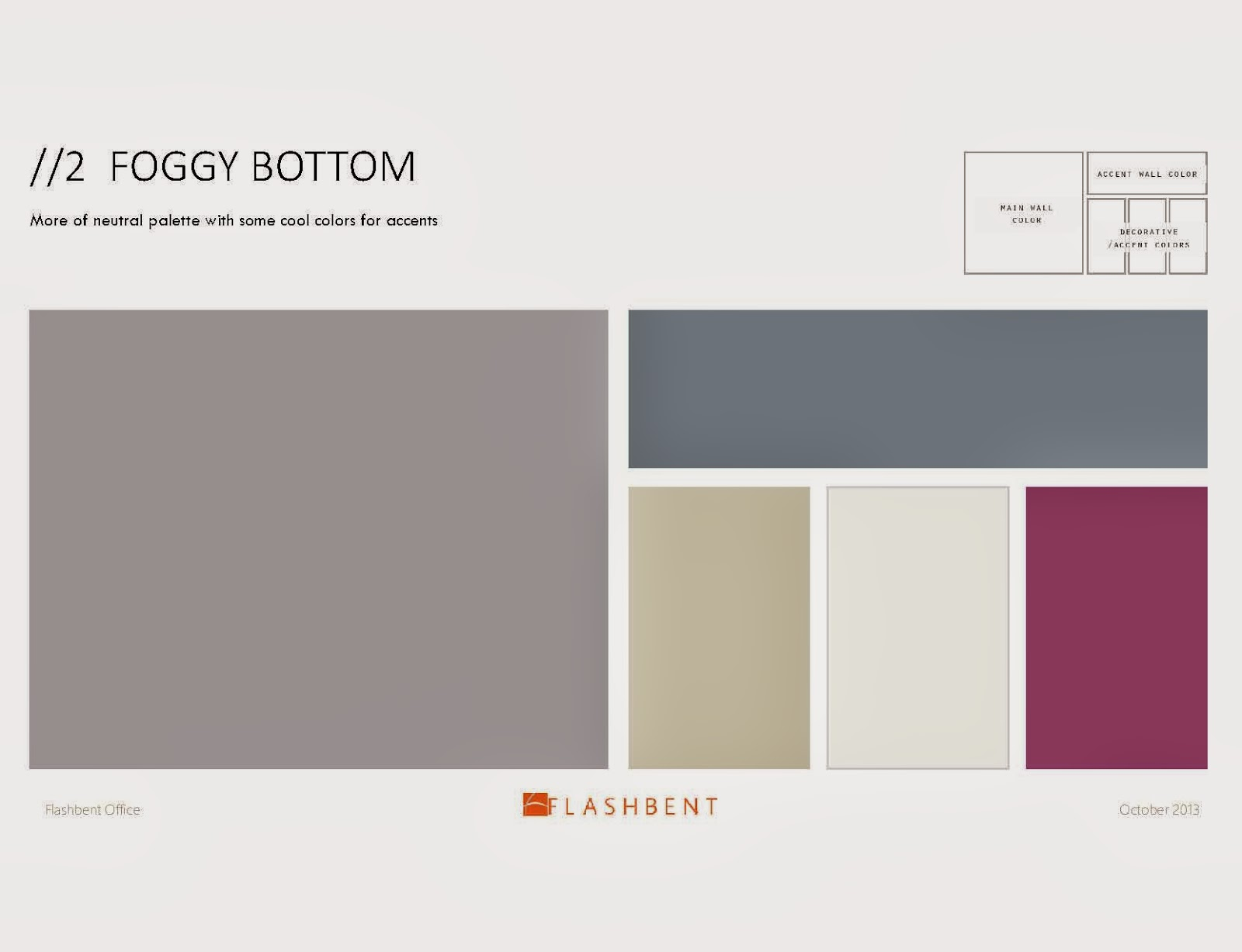 Inside the frame for Bright neutral paint colors