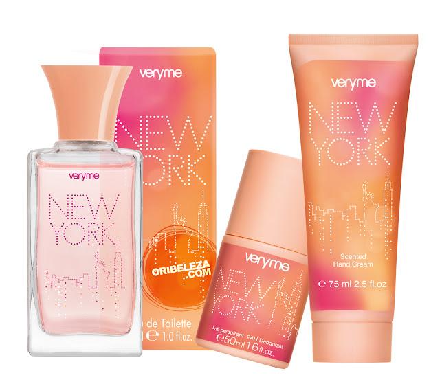 Fragrância e Cuidados do Corpo New York Very Me da Oriflame