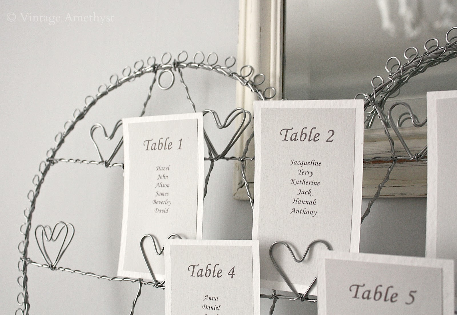 table plan holder