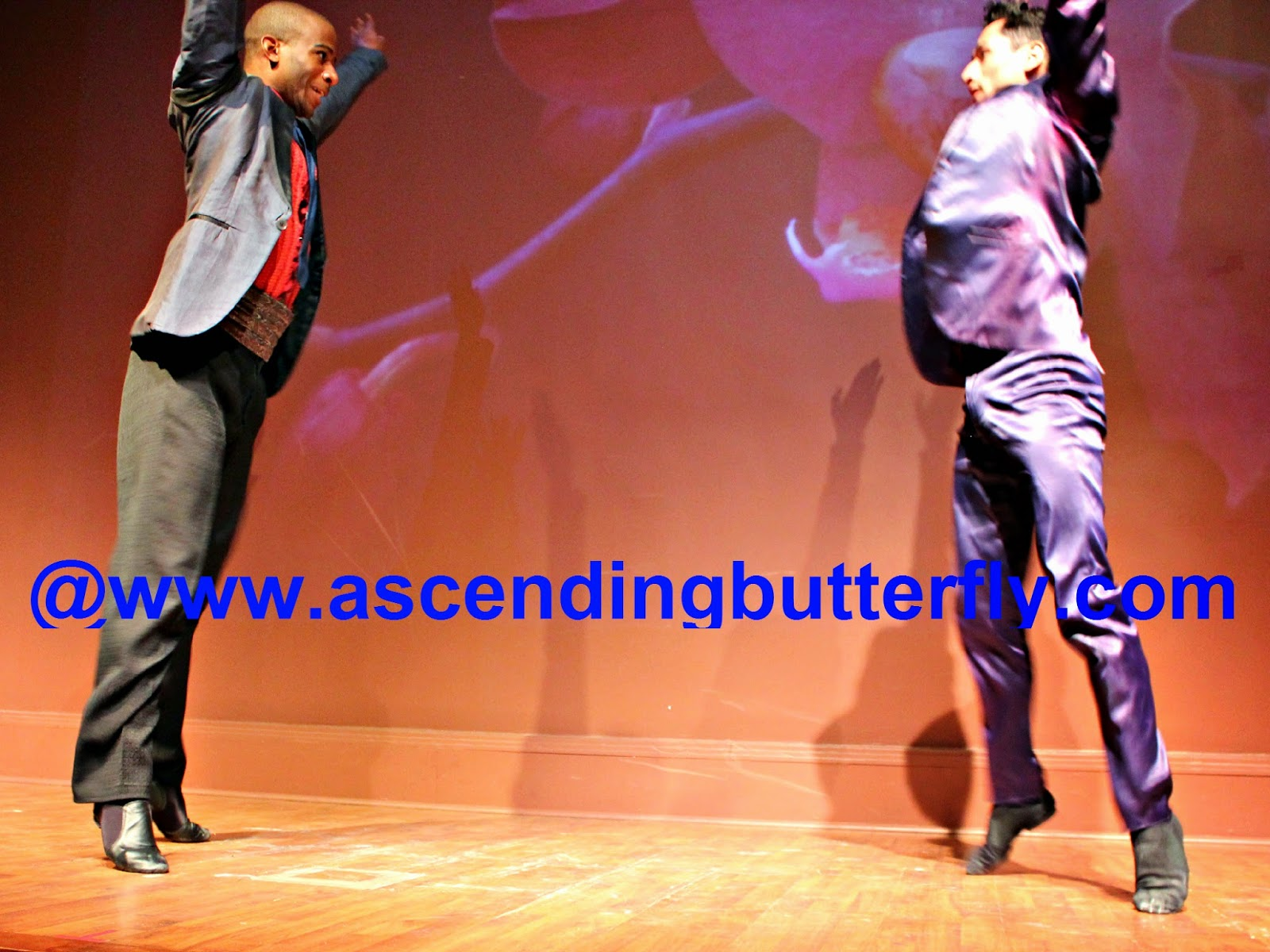 Ballet Hispanico BHdos, Dancer, Left: Christopher Wilson and Right: Nicolay Espitia, in mid air!