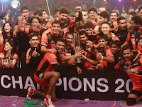 U Mumba pose for a photo after they won the Pro Kabaddi League title 2015