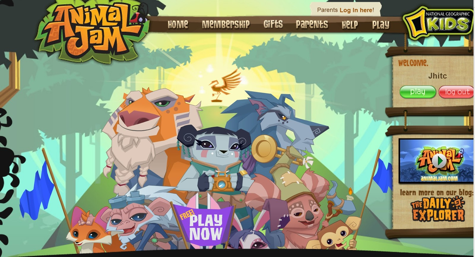 Hey people, now when you log on to animal jam. You will see this thing