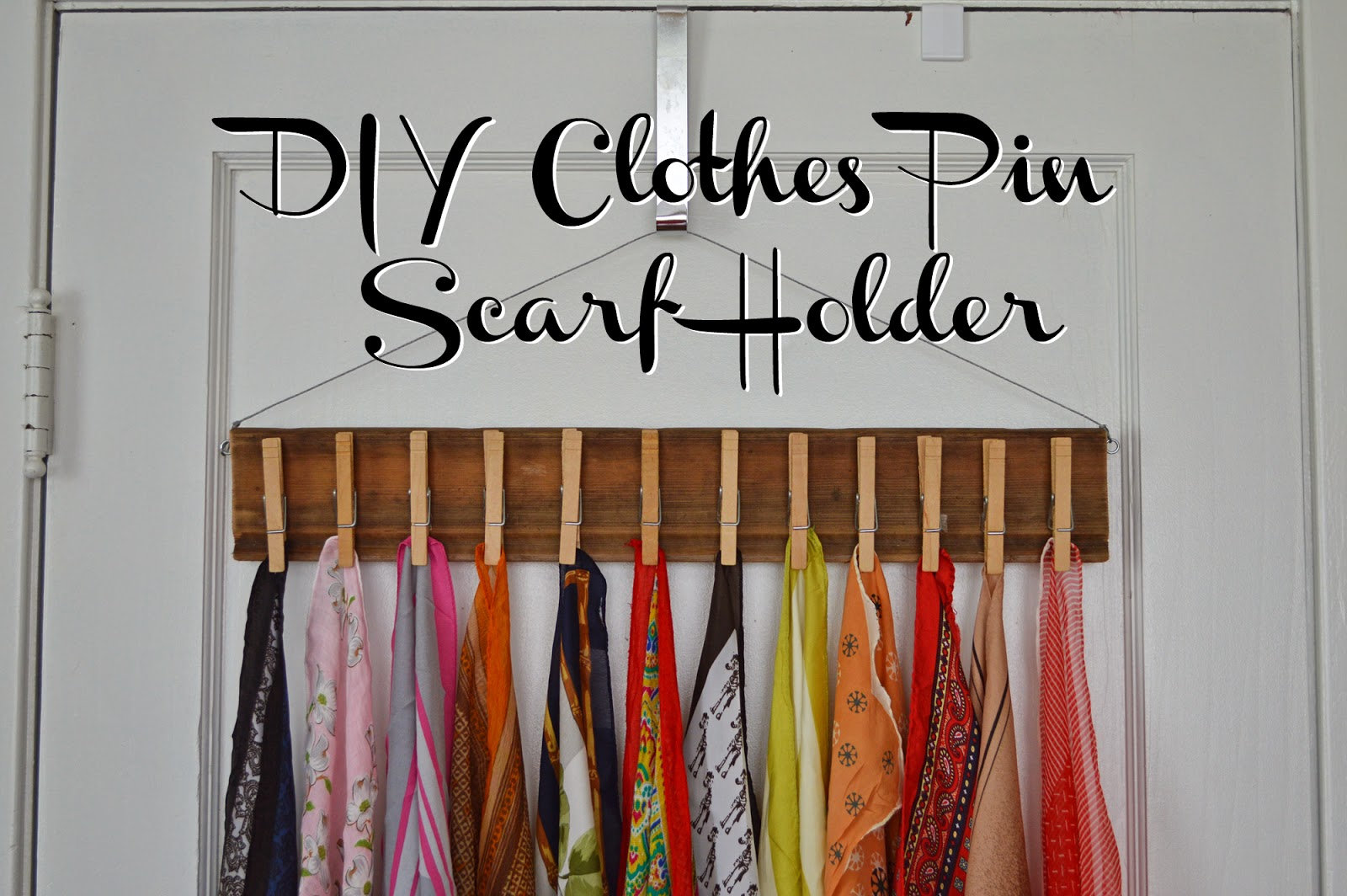 Diy Clothes Pin Scarf Holder