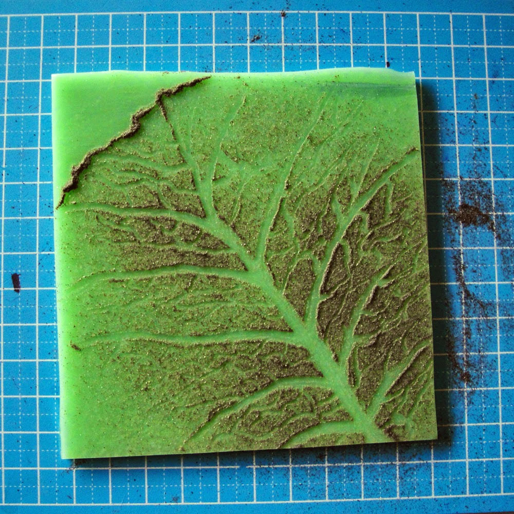 glass powder bullseye sgraffito fused frit painting cabbage leaf grow positive art sketch flutterbybutterfly flutterbyfoto day 11
