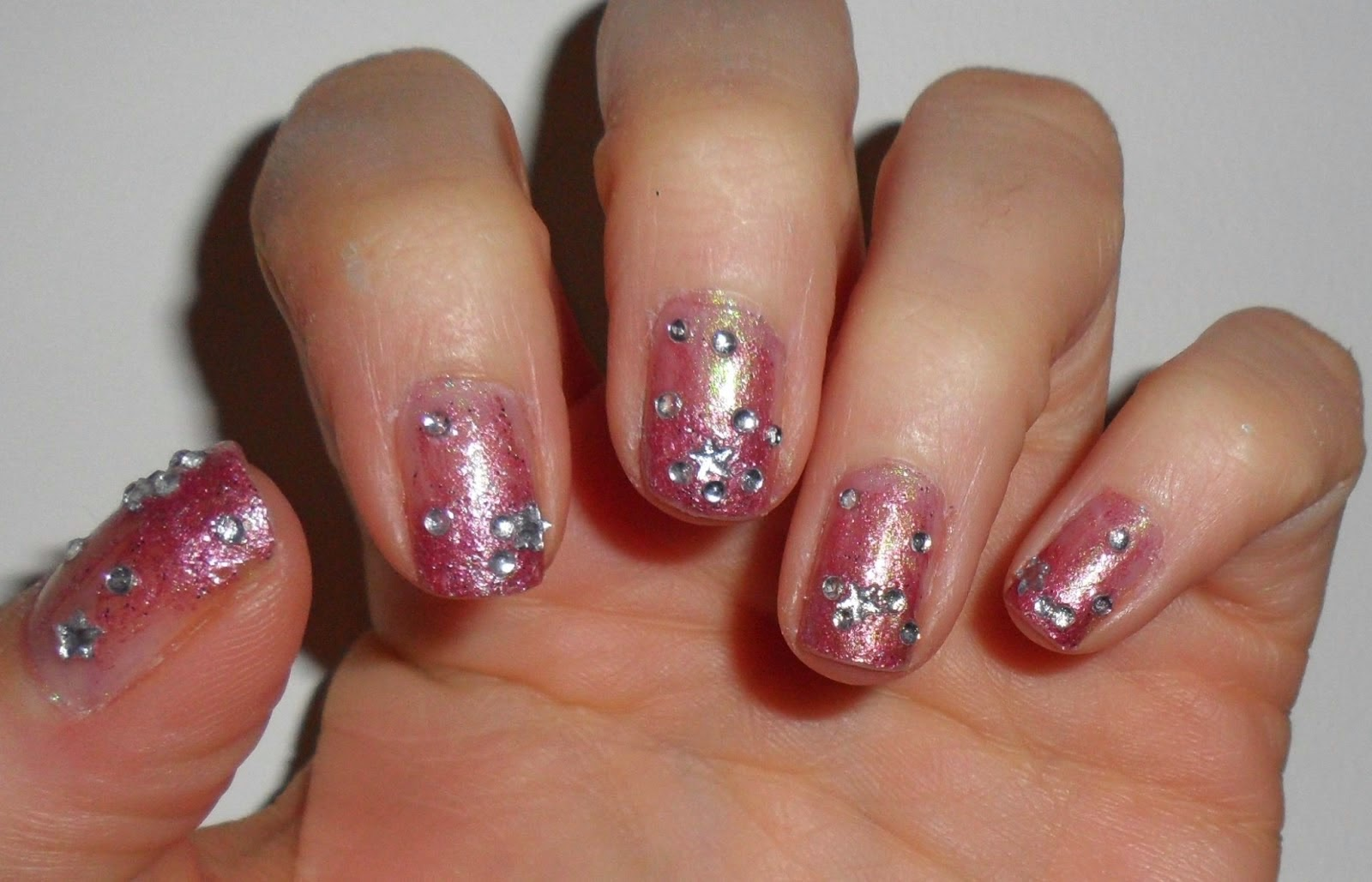 Easy Nail Gem Designs : Simple acrylic nail designs with rhinestones art