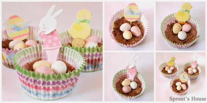 Chocolate Easter Egg Baskets