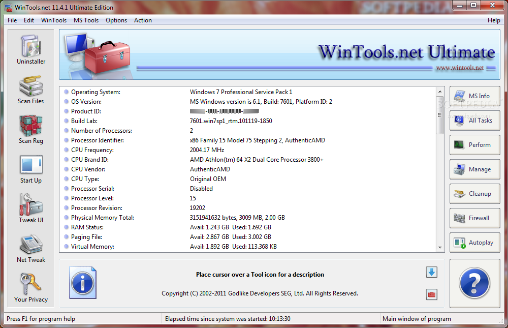 free windows tweaker Wintools.net Ultimate