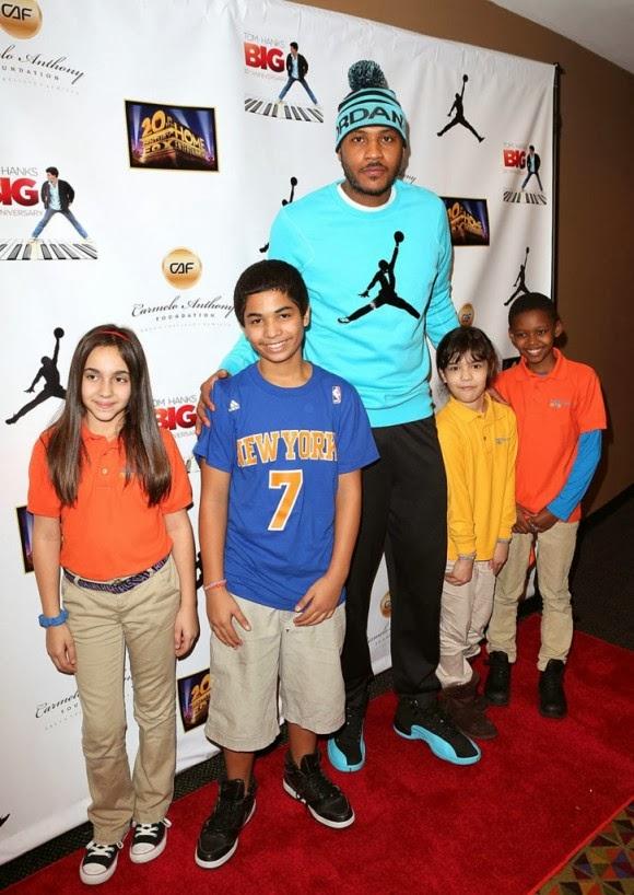 Carmelo Anthony Wear Jordan 12 Gamma Blue 2013  601af4288