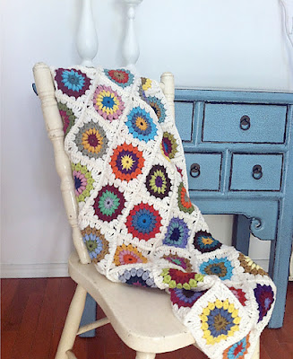 free sunbeam granny square pattern blanket