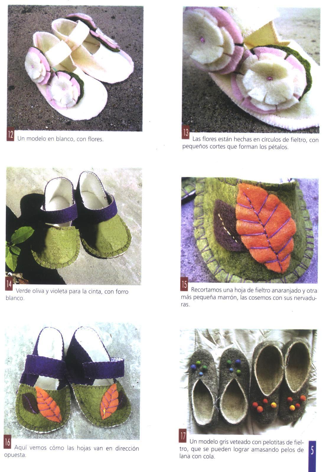 Manualidades para decorar como crear paso a paso zapatitos de fieltro para bebe - Manualidades de fieltro paso a paso ...