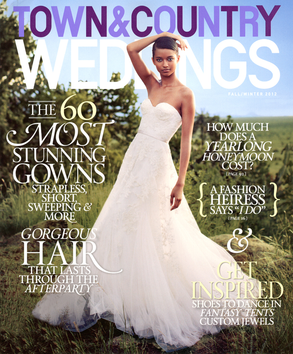 Lewin shoots cover story for town country weddings fall winter 12