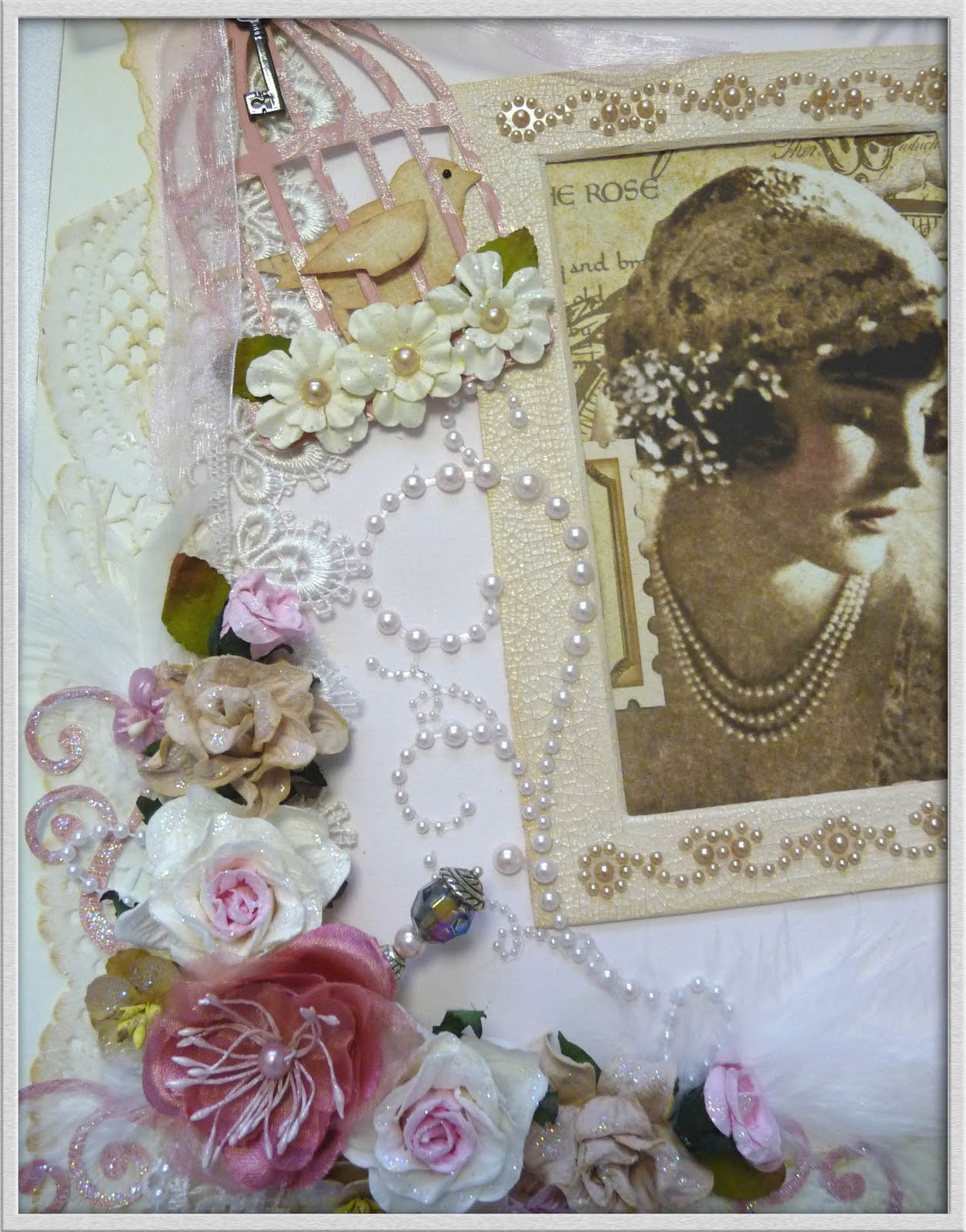 Things I Love: Shabby Chic Scrapbook Page
