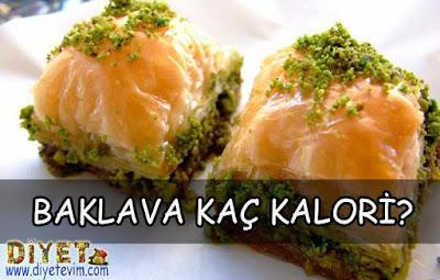 baklavanın kalorisi ve besin değeri