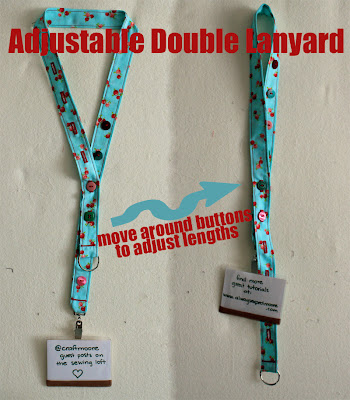 Adjustable Double Lanyard -The Sewing Loft