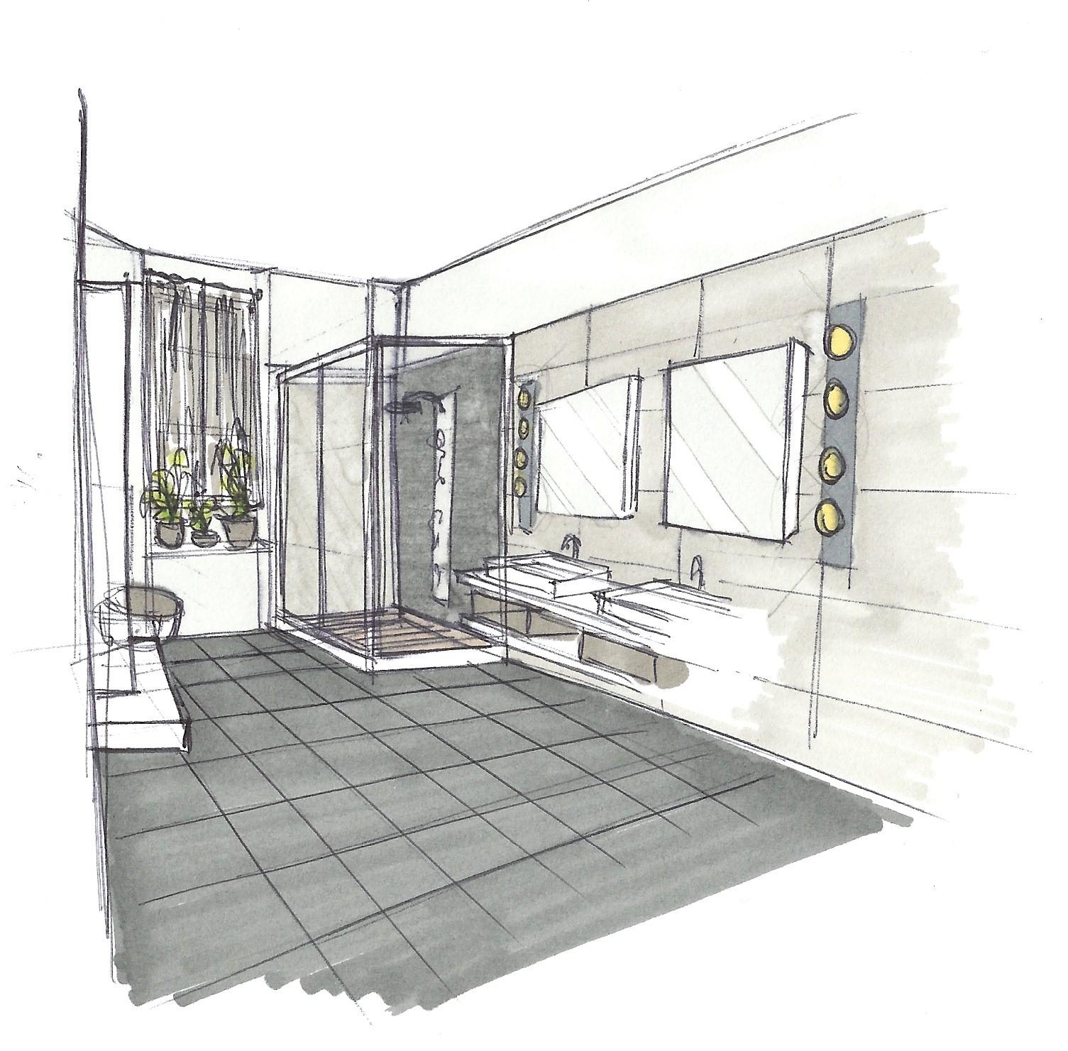 Adc l 39 atelier d 39 c t am nagement int rieur design d 39 espace et d coration r novation d 39 une - Salle de bain architecte d interieur ...