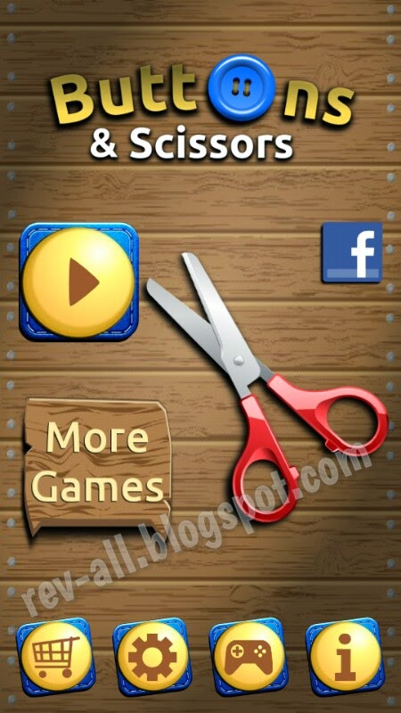 Tampilan utama - review game android Buttons & Scissors oleh rev-all.blogspot.com