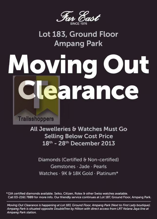 Far East Jewellery Moving Out Clearance 2013