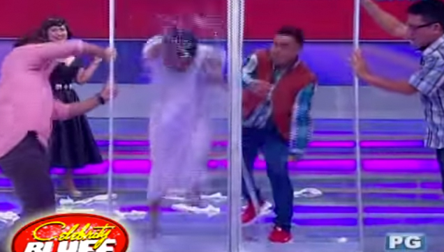 Jose Manalo and Boobay - Celebrity Bluff action scene