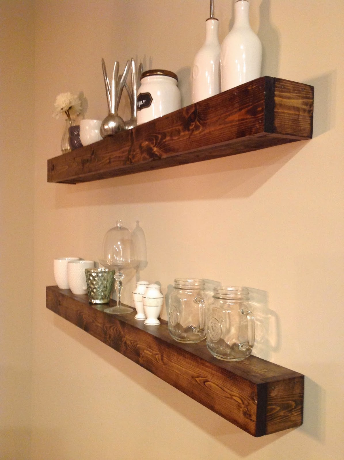 dots and details : diy floating shelves