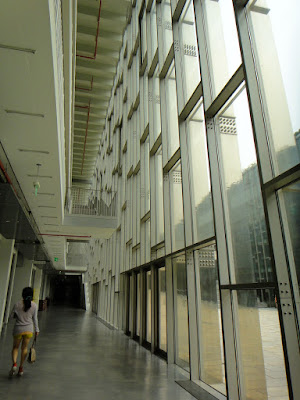 The glassdoor inside Ewha University Seoul