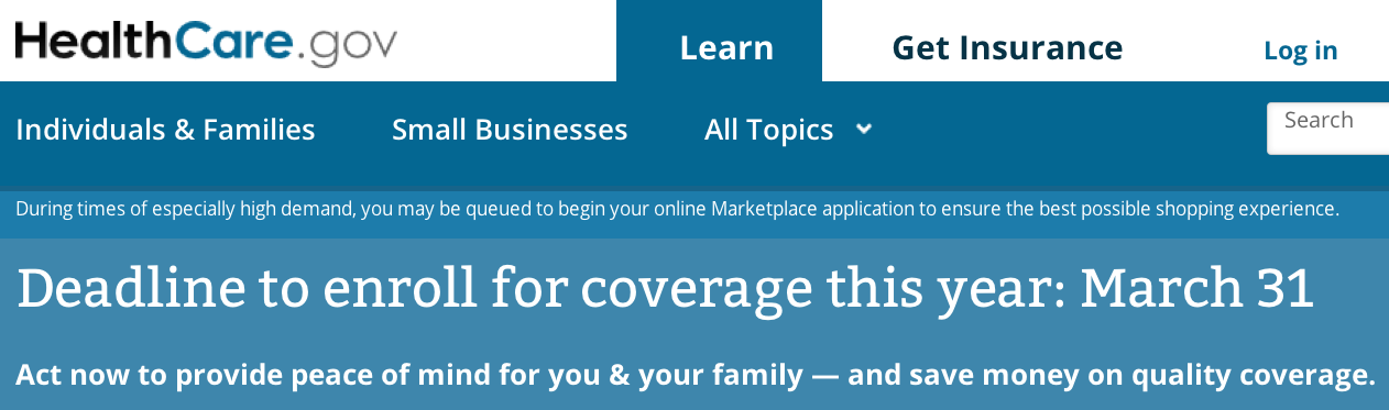 Obamacare Website Fails as