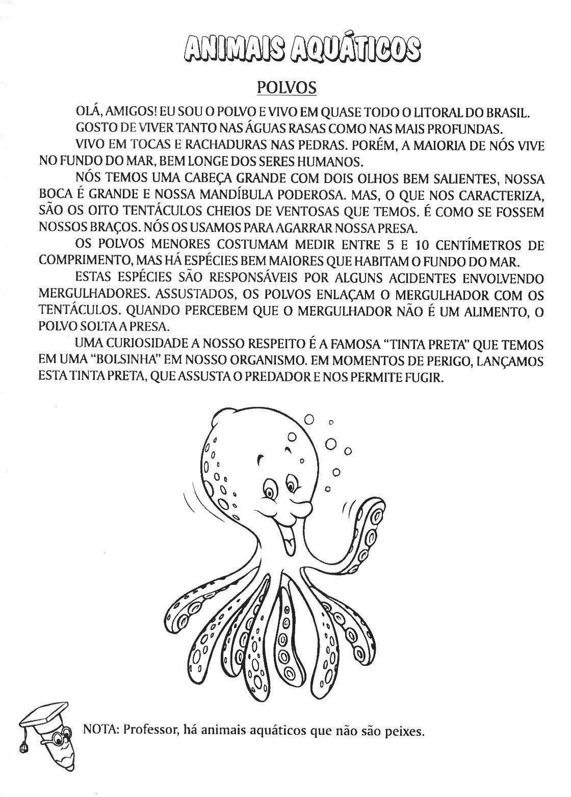 Well-known SERES VIVOS – ANIMAIS AQUÁTICOS | Cantinho do Educador Infantil TB07