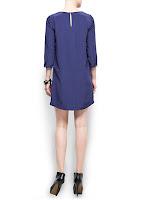 mango mavi kısa elbise modeli