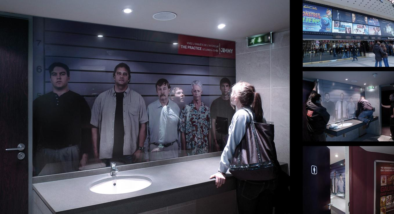 The Ambient Advert Titled Jimmy Channel: Two Way Mirror Campaign Was Done  By Marcel Paris Advertising Agency For Jimmy In France.